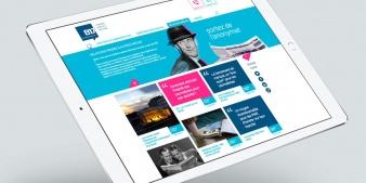 Mockup tablette nouveau site B17 Communication