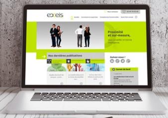Visuel du nouveau site internet d'Exeis