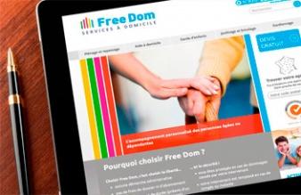 Le nouveau site internet de Free Dom