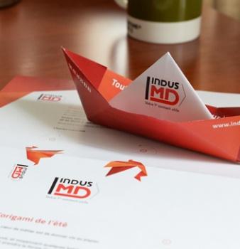Des outils de communication print basés sur l'origami