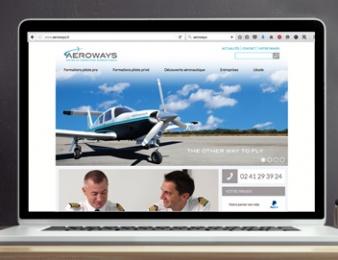 visuel du site internet d'Aéroways