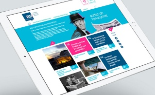 Mockup tablette nouveau site B17 Communication
