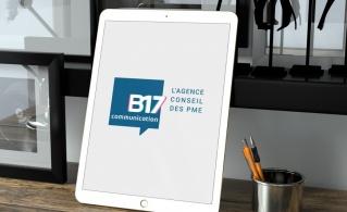 Illustration nouveau logo de B17 Communication, l'agence conseil des PME