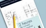 2 heures de conseil en architecture intérieur offertes
