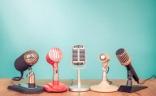 Une rangée de micros vintage