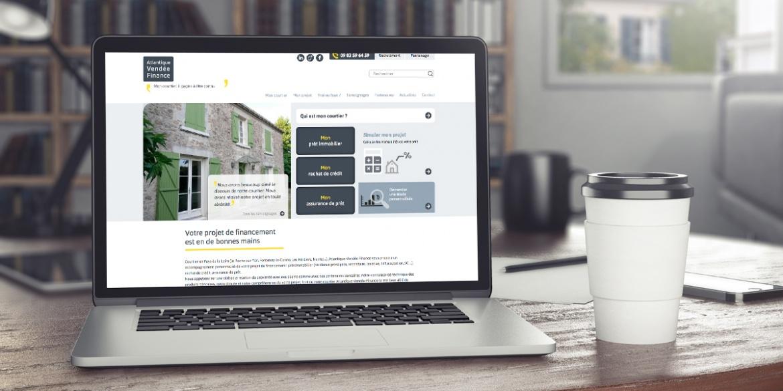 Le site internet d'Atlantique Vendée Finance