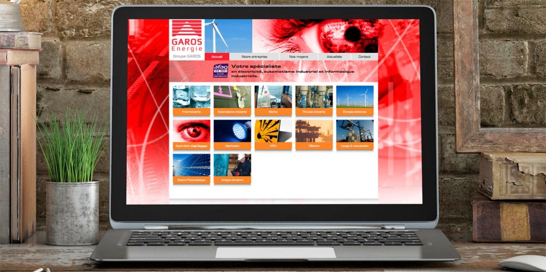 Le site internet de Garos Énergie