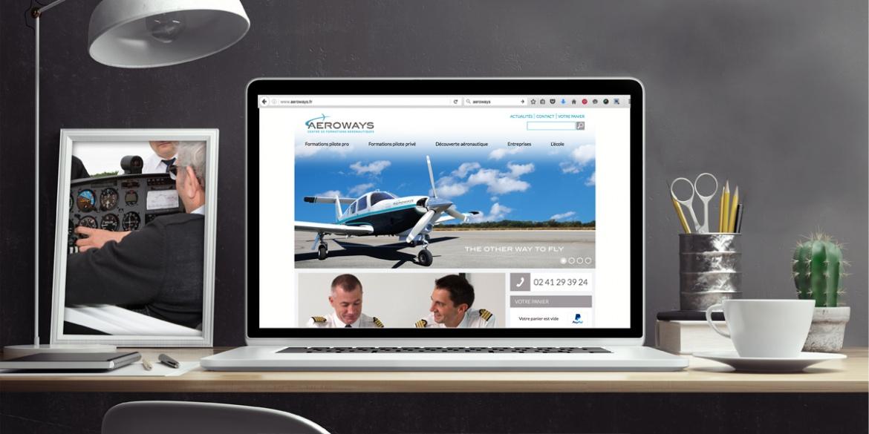 Visuel du nouveau site d'Aéroways