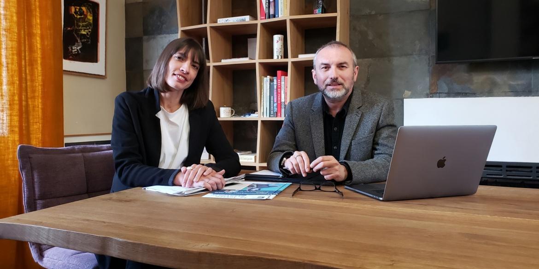 Laure Bideau, Responsable de communication et Éric Lemoine, directeur de l'agence, B17 Communication