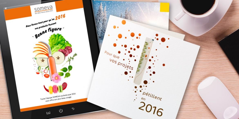 Cartes de vœux réalisées par B17 Communication