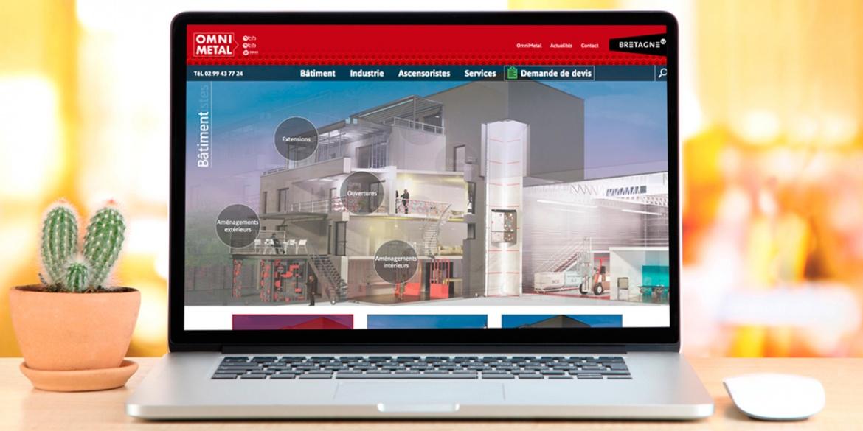 Le site internet d'OmniMetal