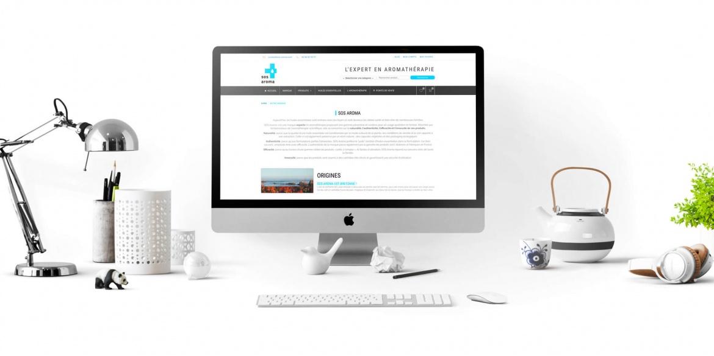 Aperçu du site web SOS Aroma