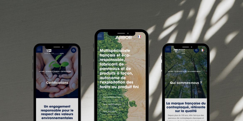 Trilogie de sites pour le Groupe Arbor