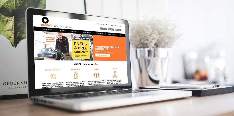 site internet VIANOR, réseau Mickaël Bertho