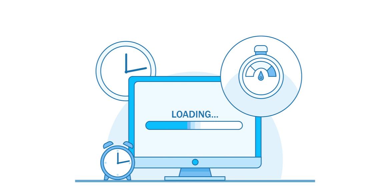 Illustration : optimisation de la vitesse de chargement d'un site web