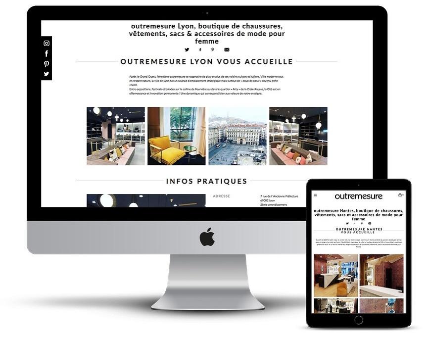 Création du site outremesure - B17 Communication