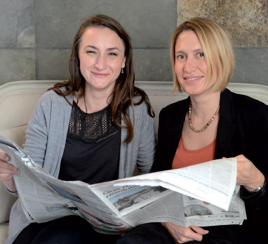 Audrey et Claudie, attachées de presse B17
