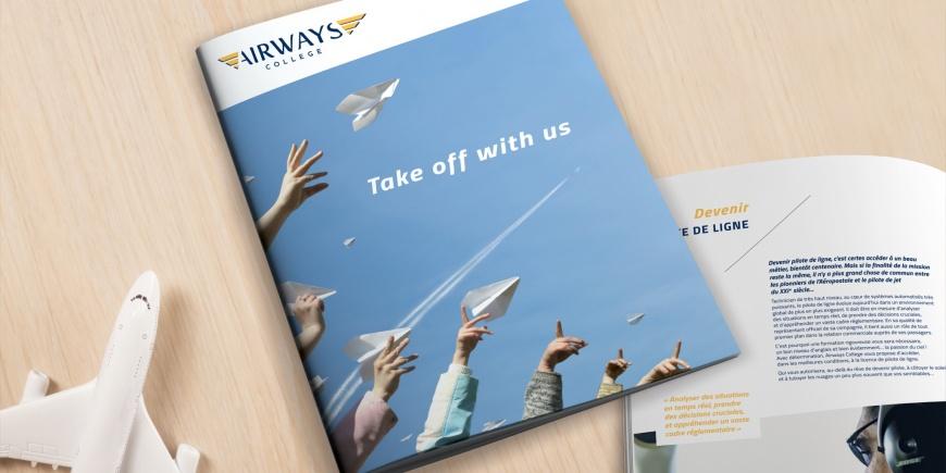Supports Airways College réalisés par l'agence B17 communication