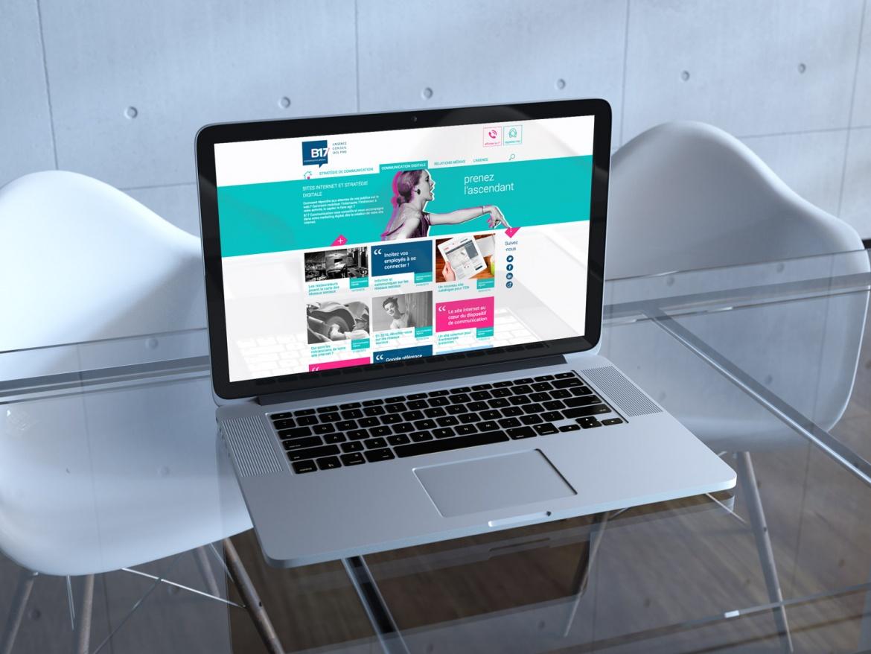 Mockup nouveau site internet B17 Communication
